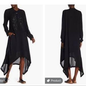 Johnny was black rose sequin embellished dress
